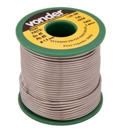 SOLDA ESTANHO VONDER 500G CARRETEL 60X40 1MM